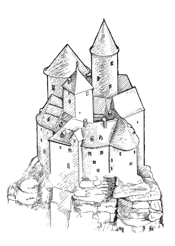 Castle Illustration for The Last Page